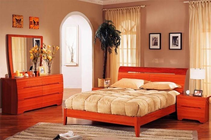 Coole Dekoration Schlafzimmer Ideen Orange #19: Schlafzimmer-orange-Eine-coole-Gestaltung Schlafzimmer In Orange Einrichten  Und Dekorieren ...