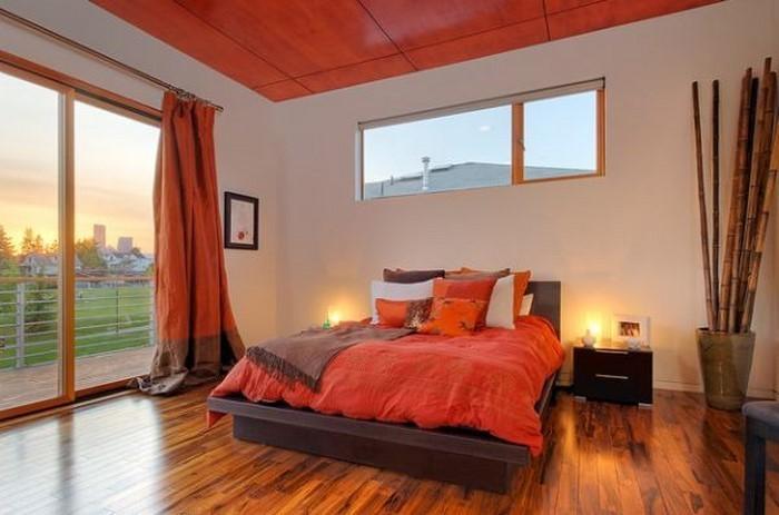 Schlafzimmer-orange-Eine-kreative-Ausstattung