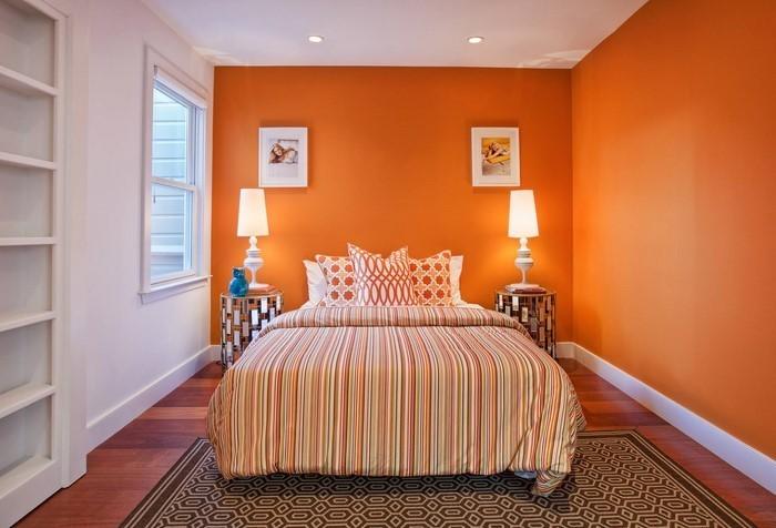 Schlafzimmer-orange-Eine-kreative-Ausstrahlung
