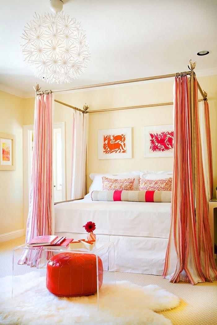 Schlafzimmer-orange-Eine-kreative-Gestaltung