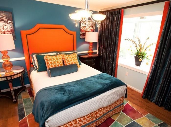 Schlafzimmer-orange-Eine-super-Еinrichtung