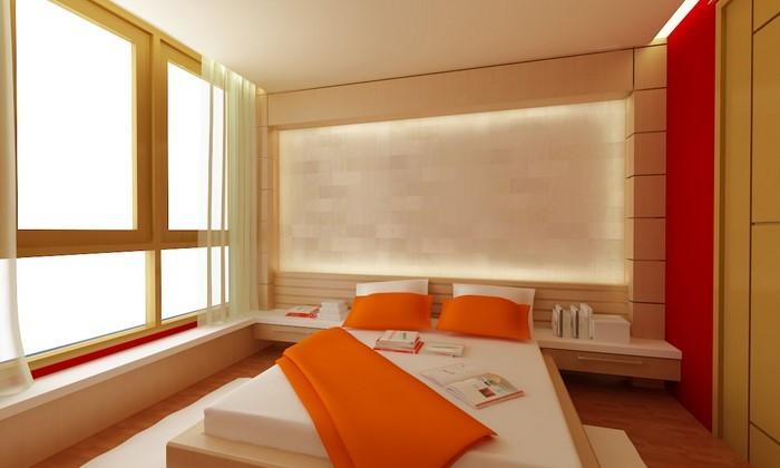 Schlafzimmer-orange-Eine-super-Ausstattung