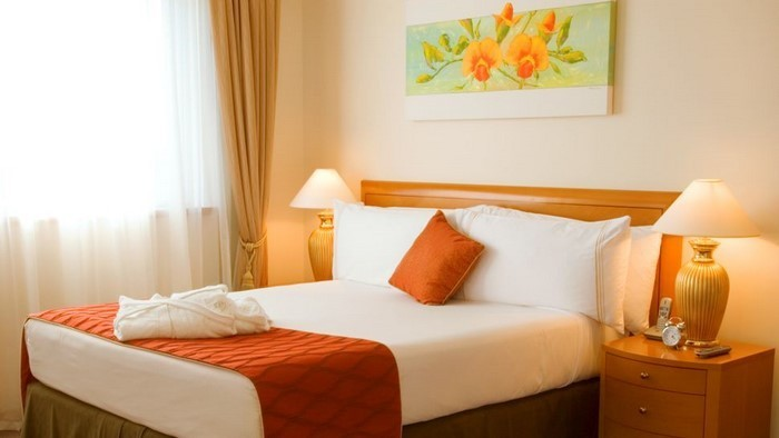 schlafzimmer farbe orange inspiration