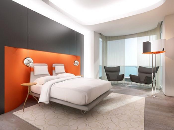Schlafzimmer-orange-Eine-tolle-Еinrichtung