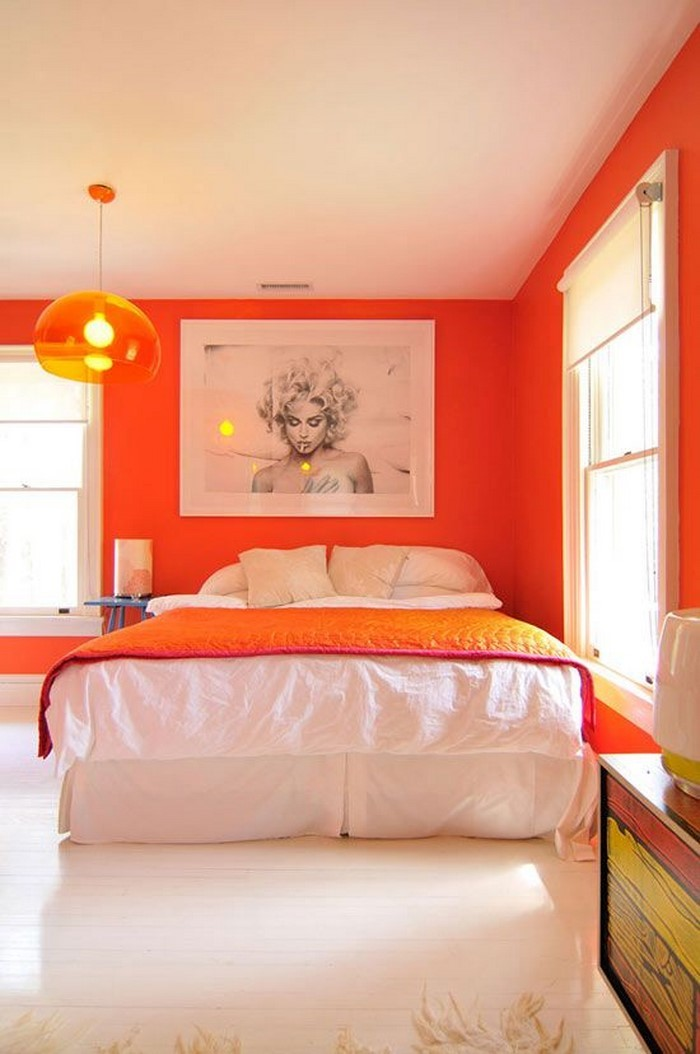 schlafzimmer farbe orange inspiration. Black Bedroom Furniture Sets. Home Design Ideas