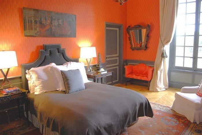 Schlafzimmer-orange-Eine-verblüffende-Gestaltung