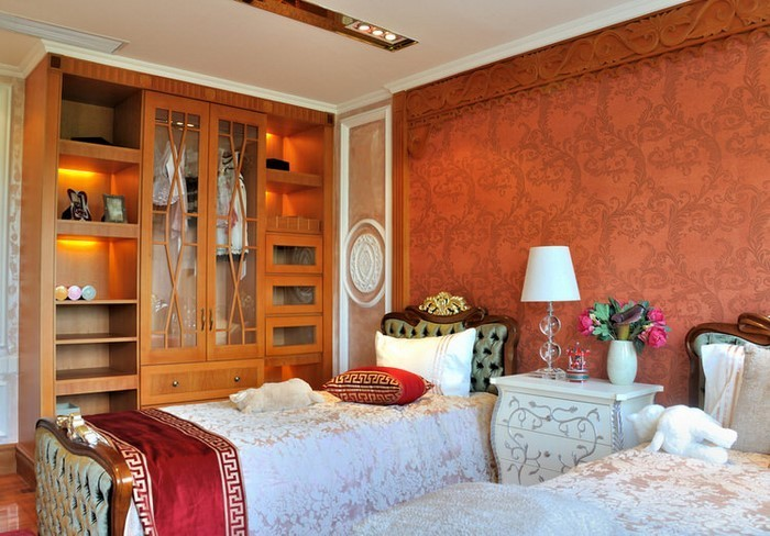 Schlafzimmer-orange-Eine-wunderschöne-Ausstattung