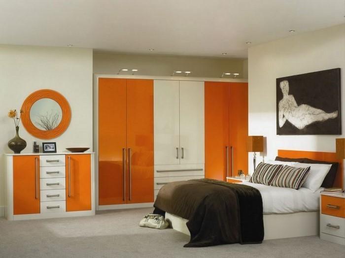 Schlafzimmer-orange-Eine-wunderschöne-Dekoration