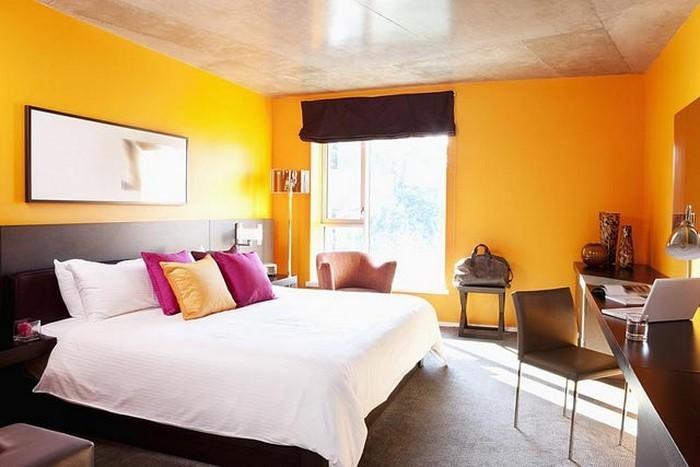 Attraktiv Schlafzimmer In Orange Einrichten Und Dekorieren ...