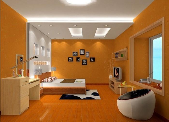 Schlafzimmer-orange-Eine-wunderschöne-Gestaltung