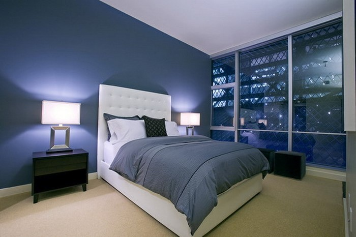 Schlafzimmereinrichtung-in-Blau-Ein-tolles-Interieur