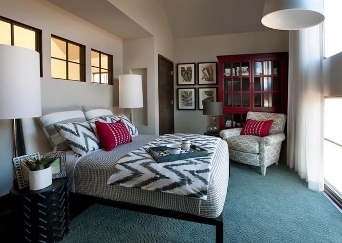 Schlafzimmereinrichtung-in-Blau-Ein-verblüffendes-Interieur