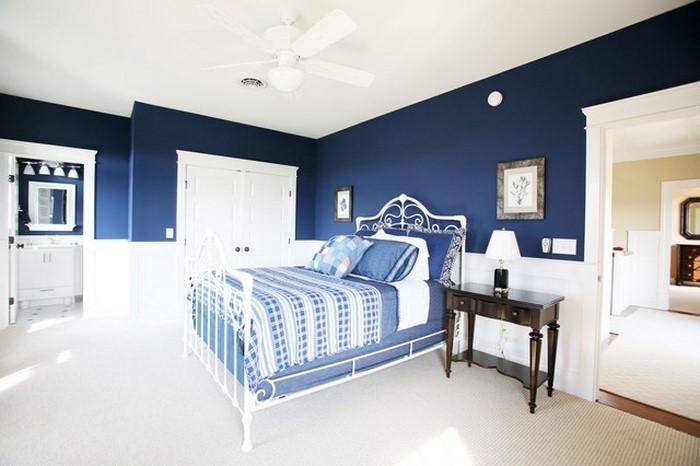 Schlafzimmereinrichtung-in-Blau-Ein-wunderschönes-Interieur
