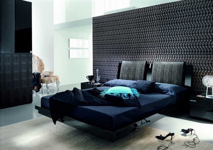 Schlafzimmereinrichtung in blau