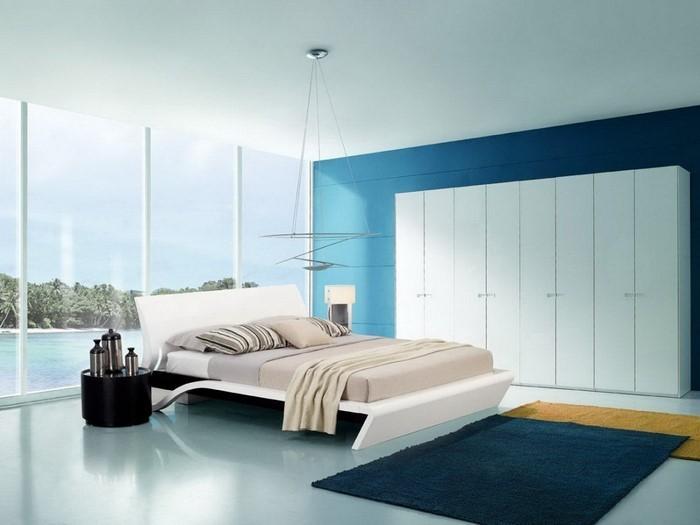 Schlafzimmereinrichtung-in-Blau-Eine-außergewöhnliche-Entscheidung