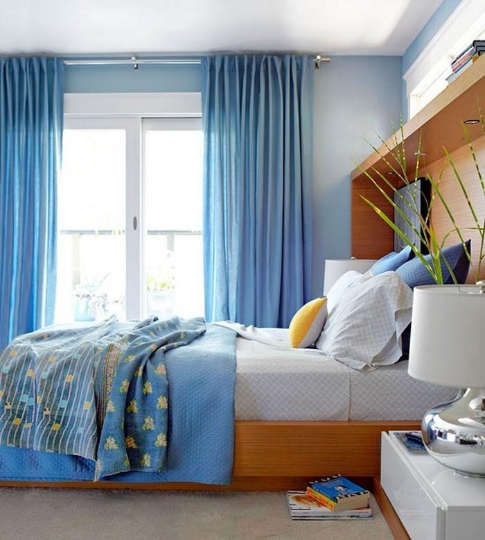 Schlafzimmereinrichtung-in-Blau-Eine-außergewöhnliche-Gestaltung