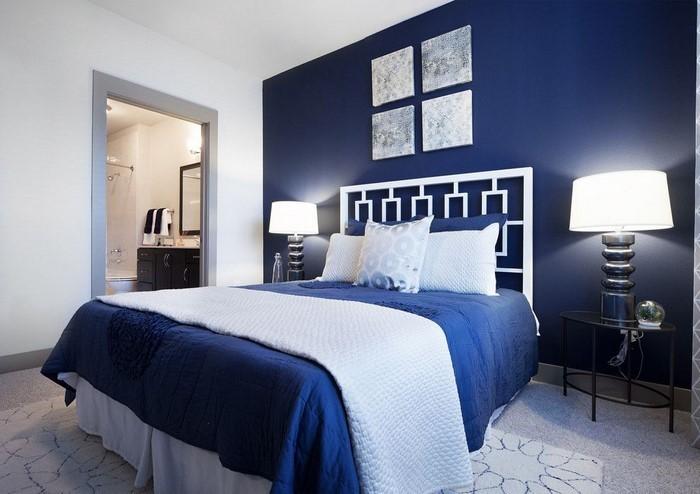 Schlafzimmereinrichtung-in-Blau-Eine-coole-Dekoration
