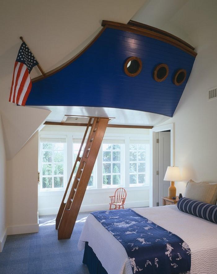 Schlafzimmereinrichtung-in-Blau-Eine-kreative-Atmosphäre
