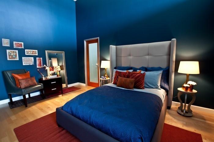 Schlafzimmereinrichtung-in-Blau-Eine-kreative-Ausstrahlung