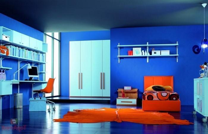 Schlafzimmereinrichtung-in-Blau-Eine-kreative-Deko