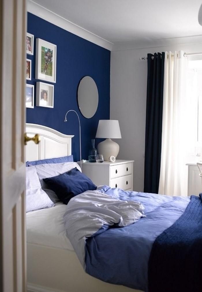 schlafzimmereinrichtung in blau das geheimnisvolle blau. Black Bedroom Furniture Sets. Home Design Ideas
