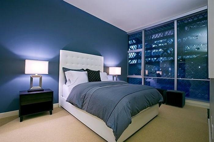 Schlafzimmereinrichtung-in-Blau-Eine-moderne-Entscheidung
