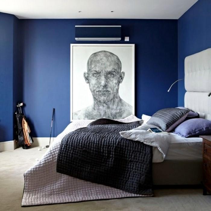 Schlafzimmereinrichtung-in-Blau-Eine-verblüffende-Deko