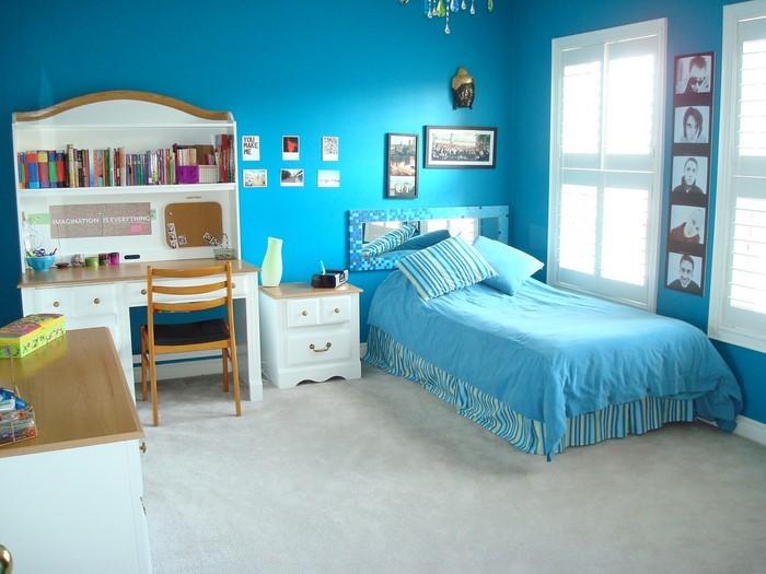 Schlafzimmereinrichtung-in-Blau-Eine-verblüffende-Dekoration