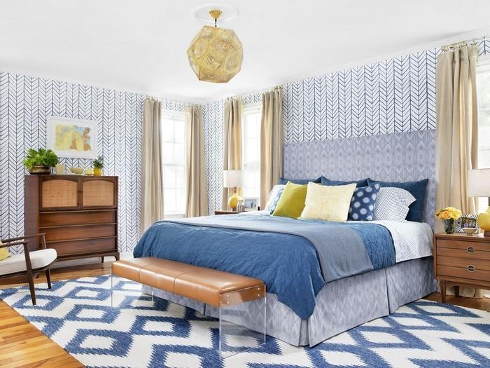 Schlafzimmereinrichtung-in-Blau-Eine-wunderschöne-Ausstrahlung
