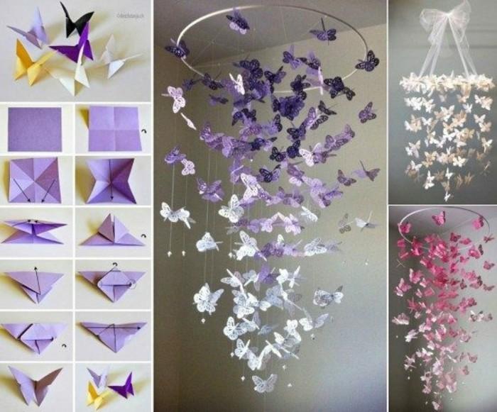 Schmetterling-Mobile-basteln-in-lila-Farbe-mit-Anleitung