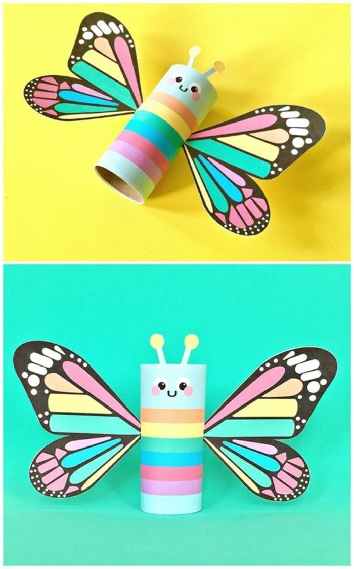Schmetterling-aus-Papier-genau-aus-Klopapierrollen