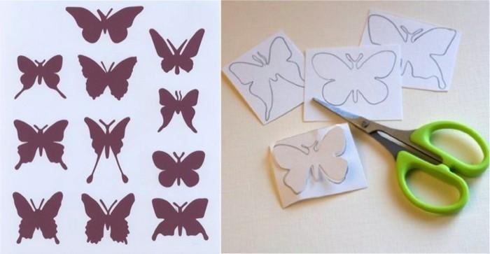 Schmetterling-aus-Papier-mit-der-Schere