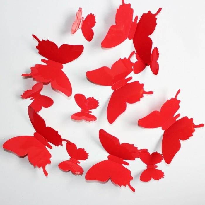 Schmetterlinge-basteln-in-roter-Farbe