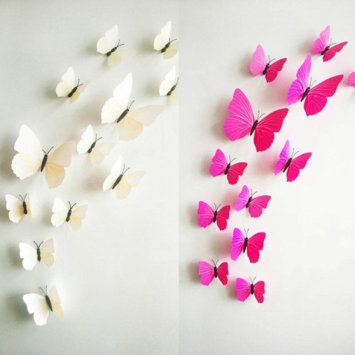 Schmetterlinge basteln wir helfen mit 100 ideen dabei for Wanddeko kinder