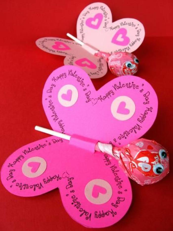 Schmetterlinge-basteln-mit-Kindern-für-Valentinetag