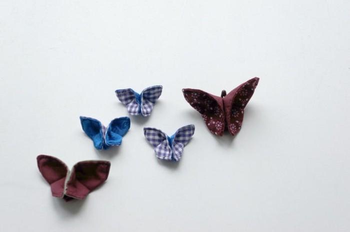 Schmetterlinge-basteln-mit-Kindern-karriert