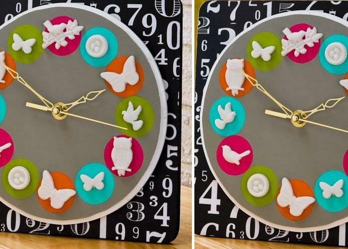 Schmetterlinge-zum-basteln-eine-Uhr-mit-Figuren