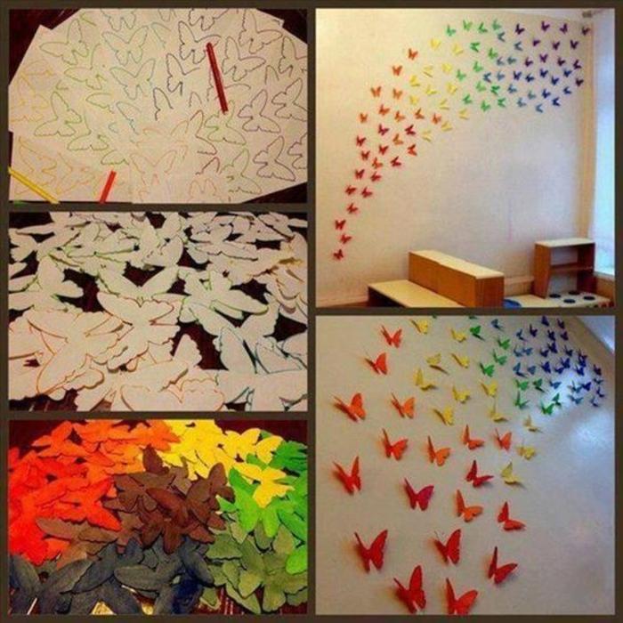 Schmetterlinge-zum-basteln-für-die-Wand