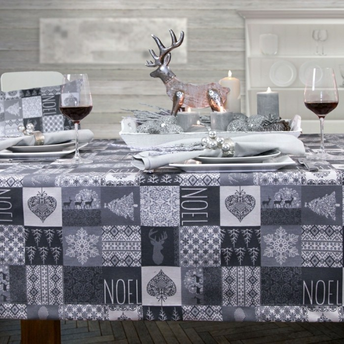 Tischdecke-Deko-Tischdecke-Noel-von-sander-in-grauer-Farbe