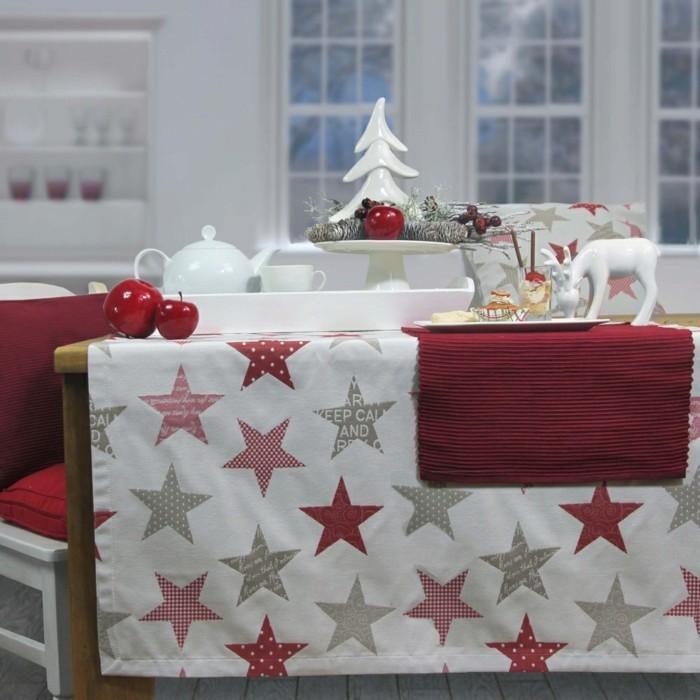 Tischdecke-Deko-Weihnachtstischdecke-Keep-Calm-von-sander-in-roter-Farbe