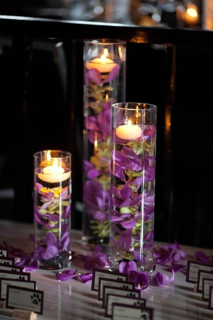 Tischdeko-Ideen-Gläser-von-Kerzen