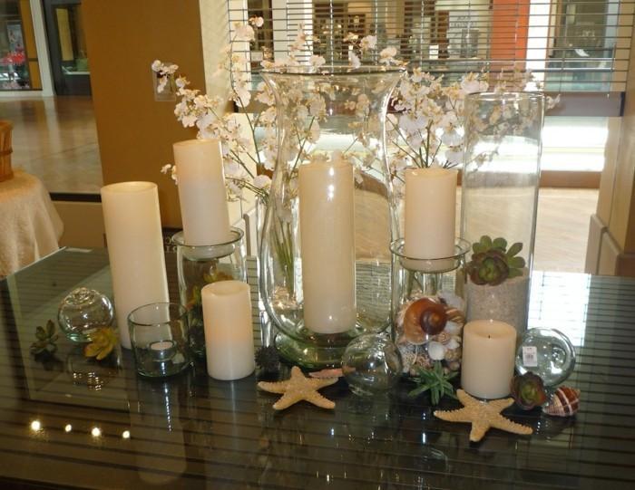 Tischdeko-Ideen-Kerzen-und-Seesterne