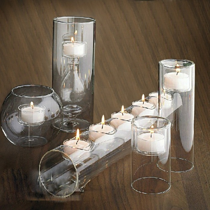 Tischdeko-Ideen-Kerzenständer-aus-Glas