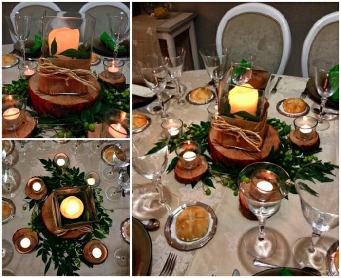 Tischdeko-aus-Holz-als-Kerzenständer