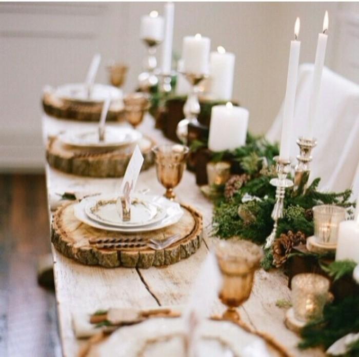Tischdeko-mit-Holz-Ständer-für-die-Teller