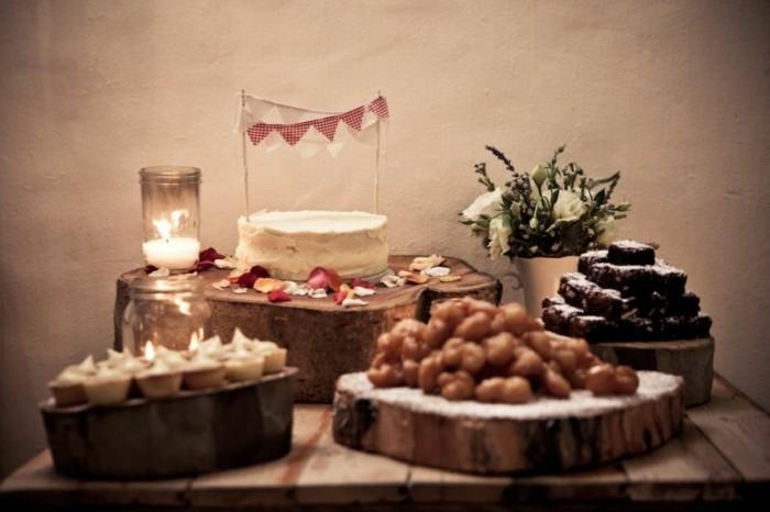 Tischdeko-mit-Holz-für-den-Geburtstag