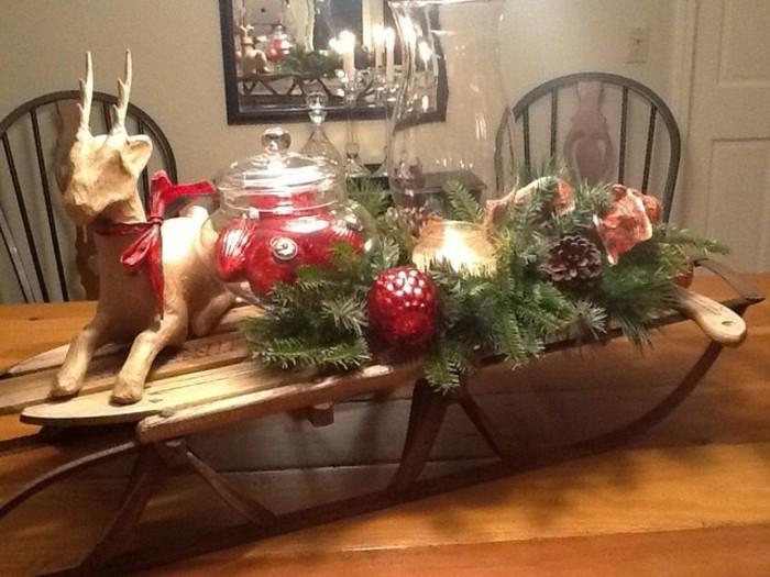 Tischdeko-mit-Holz-mit-Rentier
