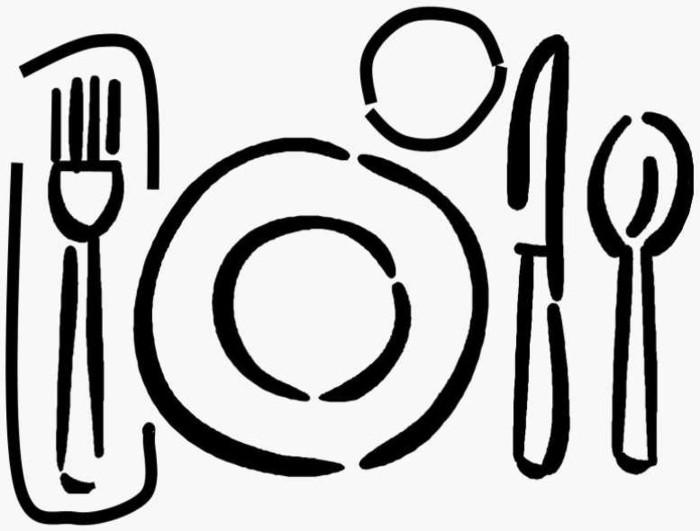 Tische-eindecken-auf-einer-Zeichnungen