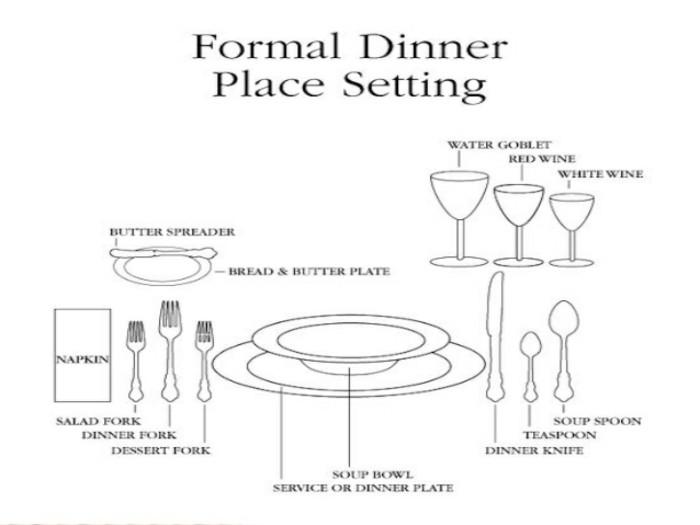 Tische-eindecken-für-offizielles-Abendessen