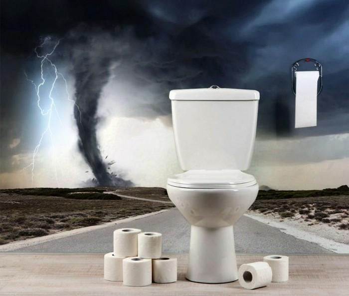 Wandsticker-Bad-mit-einem-Sturm